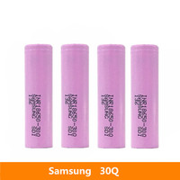4pcs 3.7V 18650 3000mah 15A discharge For Samsung INR18650 30Q li ion power cell IMR battery for Toy E cig Torch Flashlight ect