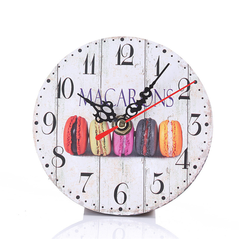 Digital Wall Clocks Vintage Style Non-Ticking Silent Antique Wood Wall Clock For Home Kitchen Office Decorative Hang Clock 9J18