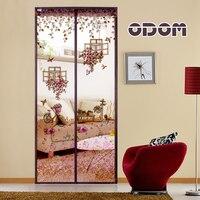 90 X 210cm Magnetic Stripe Closed Door Curtain Anti Mosquito Net Insect Magic Mosquito Curtain 5colors
