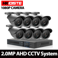HKISDISTE 1080N HDMI DVR 3000TVL 1080P HD Outdoor Home Security Camera System 8CH CCTV Video Surveillance