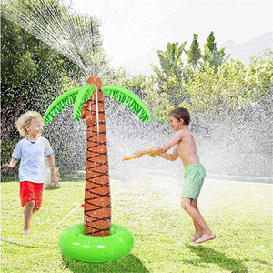 Water Play Sprinkler Inflatable Palm Tree Kids Spray Water Toy Outdoor Party Summer Fun for Backyard Play pool party decoration(China)