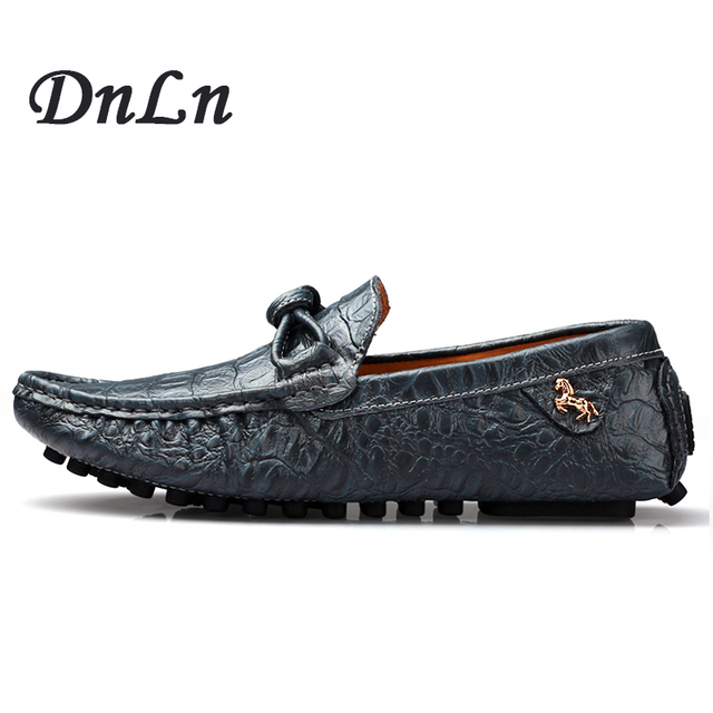 Men Casual Shoes Big Size Genuine Leather Male Shoes Fashion Men Loafers 2017 Men Flats