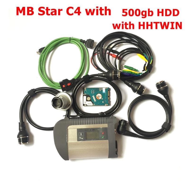 2019.07 Volledige Chip MB Star C4 met Wifi Functie SD Connect Compact C4 Diagnostic Tool met 500gb HDD Software HHTWin gratis schip - 2