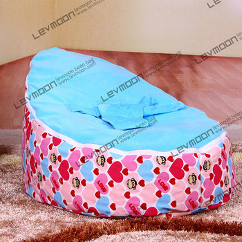 baby bean bag chair with 2pcs sky blue up cover baby seat cover baby bean bag cover children blue bean bag chair FREE SHIPPING