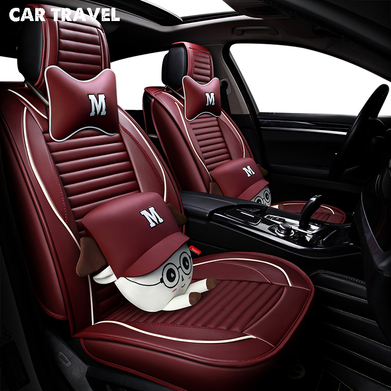 pu Leather car seat cover For fiat albea ford fusion mitsubishi outlander xl land rover discovery 3 auto accessories car styling
