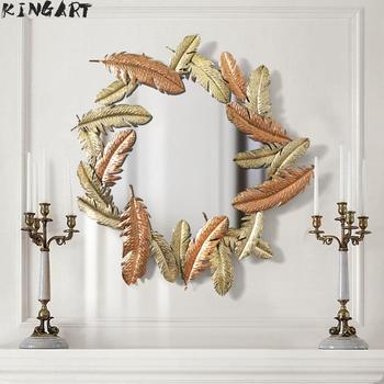 Miroir Mural rétro cadre en métal