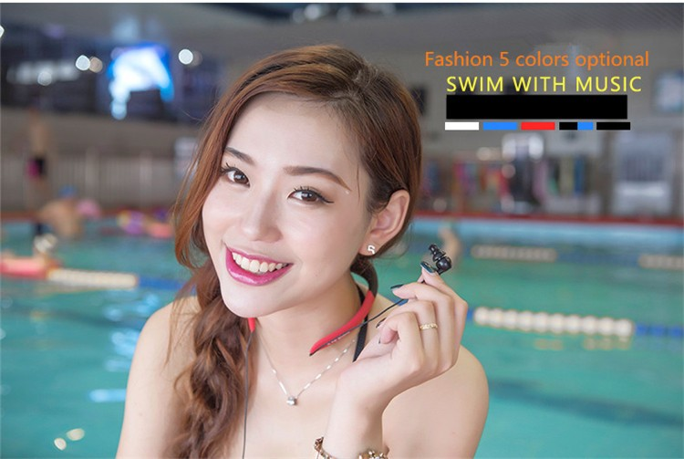 Askmeer IPX8 Waterproof 8GB Underwater Sport MP3 Music Player Neckband Stereo Earphone Audio Headset with FM for Diving Swimming (3)