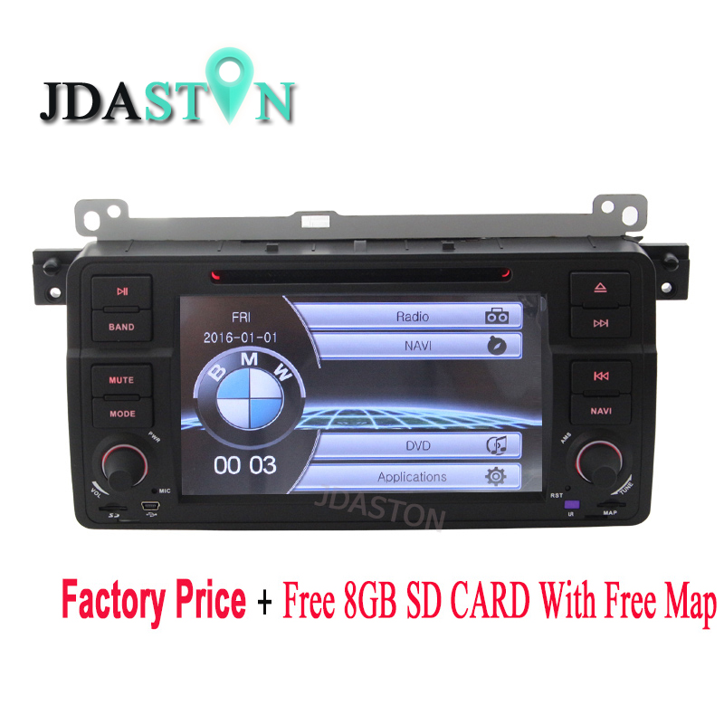 JDASTON 1 Din Car DVD player Car multimedia For BMW E46 M3 MG ZT Rover 75 GPS Navigation Car Radio Stereo Audio USB FM Canbus SD isudar car multimedia player gps for bmw e46 m3 mg zt rover 75 canbus radio capacitive touch screen dvd player bluetooth ipod