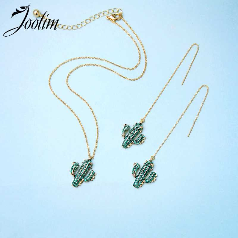 Joolim Cute Cactus Necklace Earring Set Summer Jewelry Set