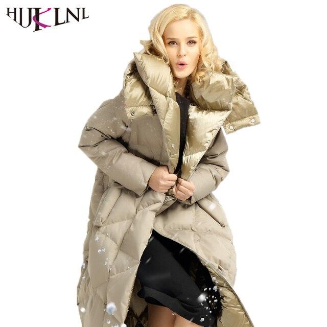 HIJKLNL donsjassen dames 2017 Frauen Dicken Kapuze Lange Daunenjacke Warme  Weiße Gänsedaunen Winter Mantel Puffer Jacke c18ce1f0b4