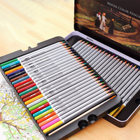High Quality Water Soluble Lead 24 Color 36 Color 48 Color 72 Color Iron Box Pencil