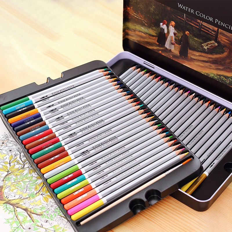 High Quality Water Soluble Lead 24 Color 36 Color 48 Color 72 Color Iron Box Pencil Painting Coloring Drawing Art Supplies