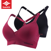 Santic Bra for Women GYM Sport Running Bras Yoga Vest Cycle Bras Fitness Ciclismo Cycling Bike MTB Bicycle Breathable Underwear