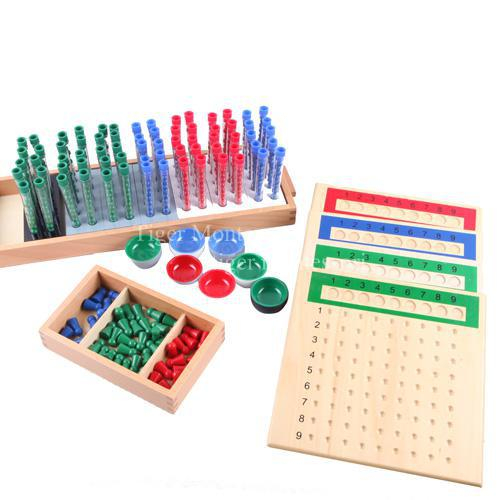 Professional Montessori Material Wooden Educational Toy Mathematics Long Division