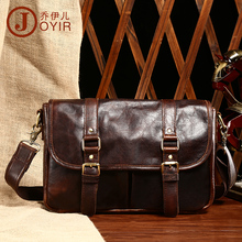 Free shipping Fashion trend vintage crazy horse leather man bag fashion genuine leather male messenger bag