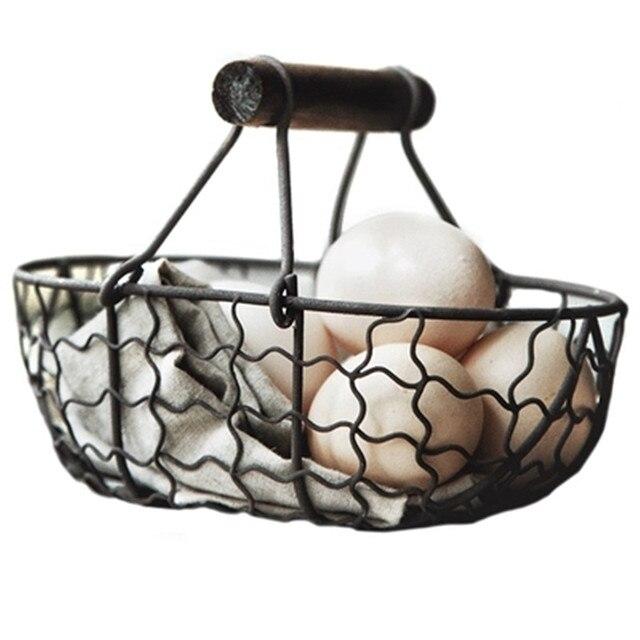 Farm Style Metal Storage Basket