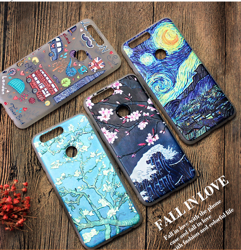 !ACCEZZ Soft Funny Cartoon Protective Back Cover Case For Huawei P9 Mate 89 Honor 78 Case Bumper TPU Painting Shell Funda Capa (3)