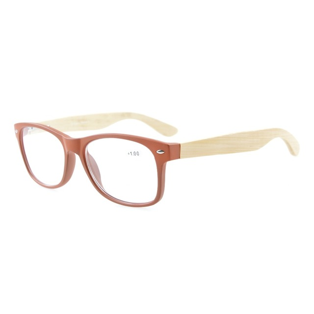 70ecd1a6ef34 R093 Eyekepper Readers Classic 80 s Spring Hinges Bamboo Wood Temples Reading  Glasses +0.00--