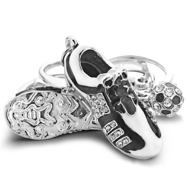 Crystal Football Key Chain
