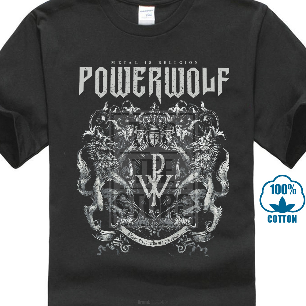 Powerwolf Crest  Metal Is Religion Men'S Casual T Shirt