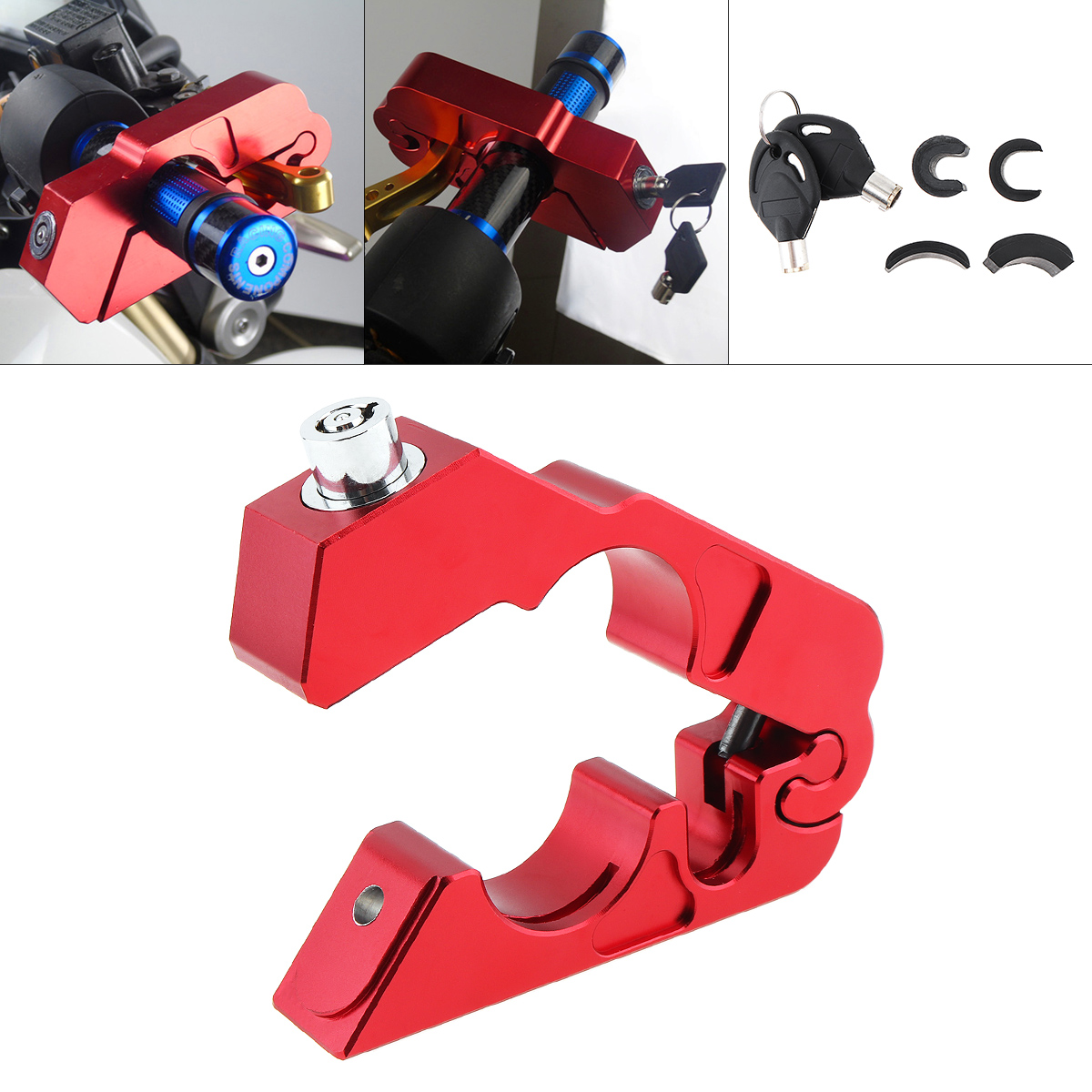 CNC Handlebar Grip Lock Street Bike Scooter Security Safety Lock Brake Clutch Levers Locks Theft Protection Lock for Motorcycle in Handlebar from Automobiles Motorcycles