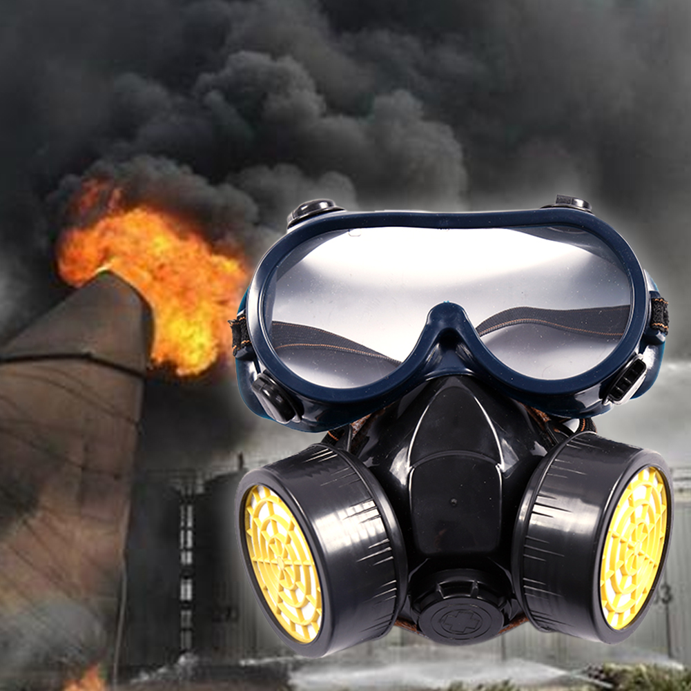 Active Carbon Gas Mask Dual Cartridge Laboratory Agricultural Protective Filtration Dust Face Respirator Safety Adult Painting