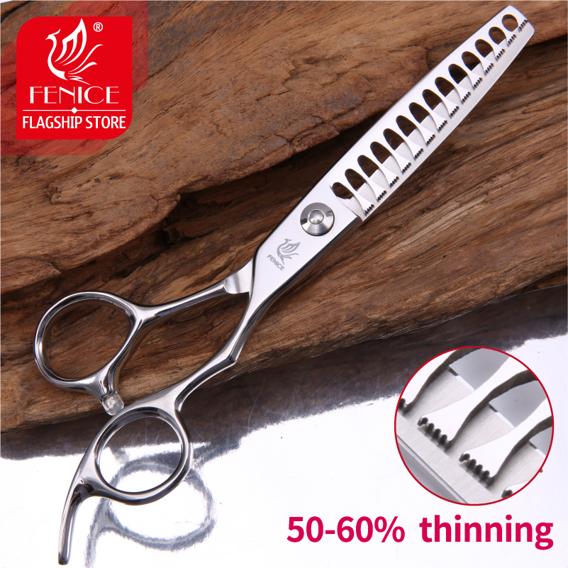 Fenice Professional JP440c 6 inch High end Pet dog Grooming Scissors thinning shears for groomer