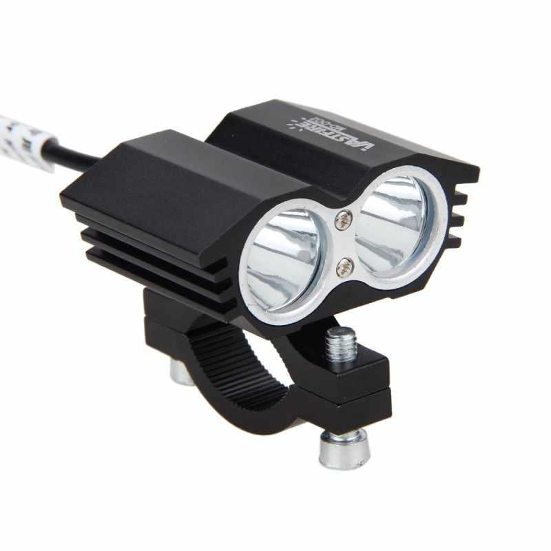 1PCS 12 V-36 V 30W 3000LM 2x XM-L T6 LED ไฟหน้ารถจักรยานยนต์ Spot Light ทำงาน Offroad ขับรถหมอกโคมไฟ