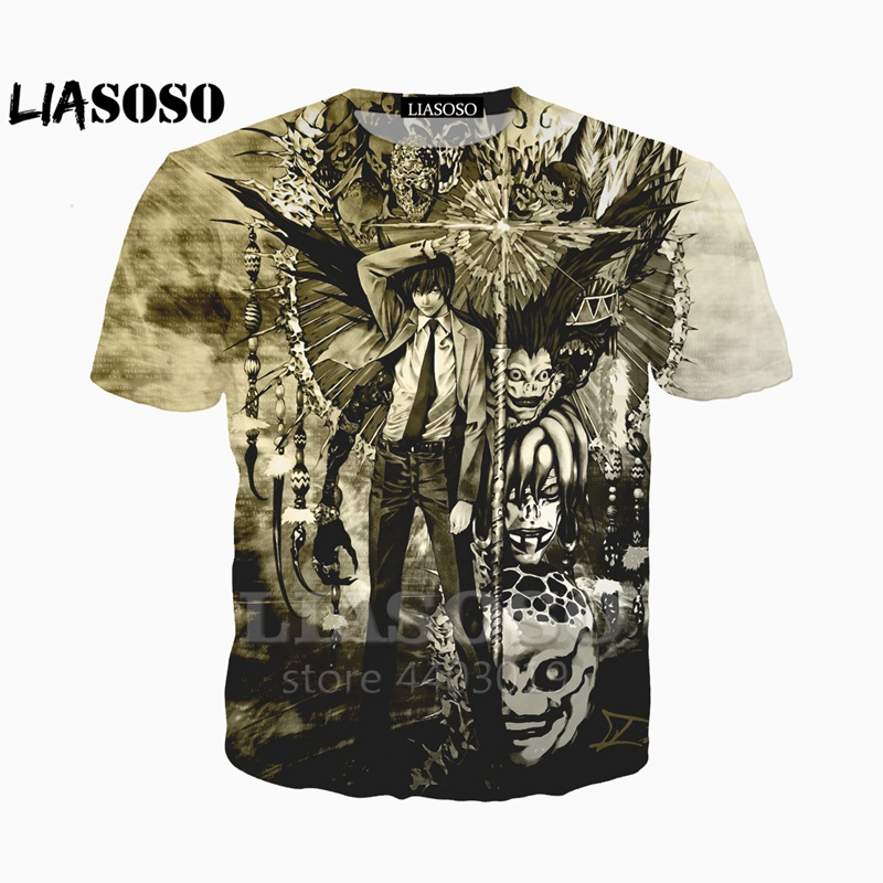 304af8d4 LIASOSO Newest clothing Death Note 3d Man Women t shirt casual ...