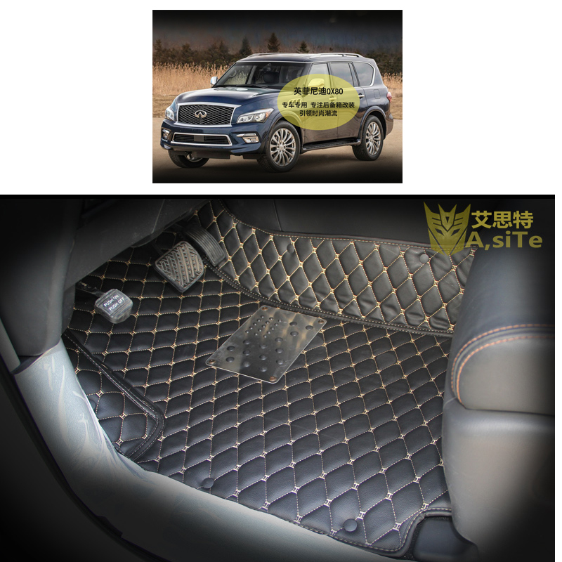 2012 Infiniti Qx Interior: Custom Fit Pu Leather Car Floor Mat For Infiniti Qx80 2013