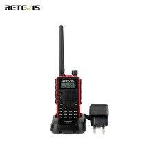 Durable Walkie Talkie Retevis RT5 Dual Band VHF UHF Handsfree Mobile Amateur Radio Portable Ham Two