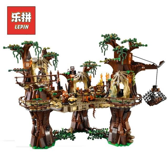 Lepin 05047 Star Serie Modello War Costruzione di Blocchi di Mattoni Ewok Villaggio Foresta Vergine FAI DA TE Per Bambini Giocattoli educativi del Regalo con 10236