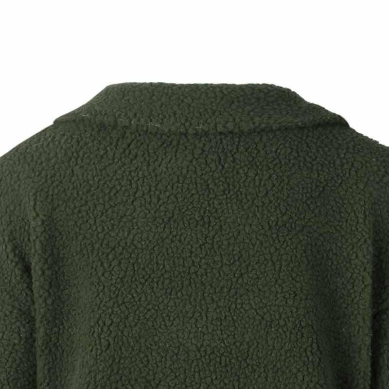 Boho повседневные зимние большие размеры хаки женские элегантные куртки Свободные Толстые нагрудные карманные пуговицы винтажное Женское пальто модные пальто