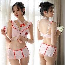 Sexy nurse uniform underwear cosplay word shoulder erotic sex play adult costume sexy temptation
