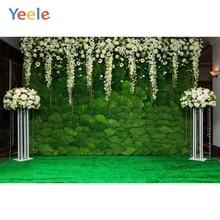 Yeele Green Stage Wedding Occasion Bridal Photography Backdrops Vinyl Backdrop Custom Photo Backgrounds For Photo Studio цена