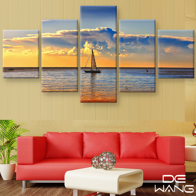 Home Decoration 5 Pieces Canvas Wall Art Prints No Frame Art Picture ...