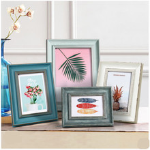 Simple solid wood photo frame family picture frame American-style old-fashioned pastoral simple picture frame 5 6 7 8 10inch success style polyresin photo frame 4 x 6 picture