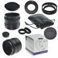 Mirroless cámaras para aps-c 35mm f/1.6 33mm f1.6 para pentax q samsung nx + c-pq adaptador + parasol + macro ring * 2 + p/q lente trasera cap