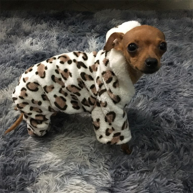 Di modo Morbido Della stampa Del Leopardo Vestiti Del Cane Da Compagnia Cappotto