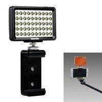 Commlite CM L50 LED Camera Video Light, 50 LED 5700 6000K Dimmable Mini Panel Light for Canon Nikon Cameras and Smartphone