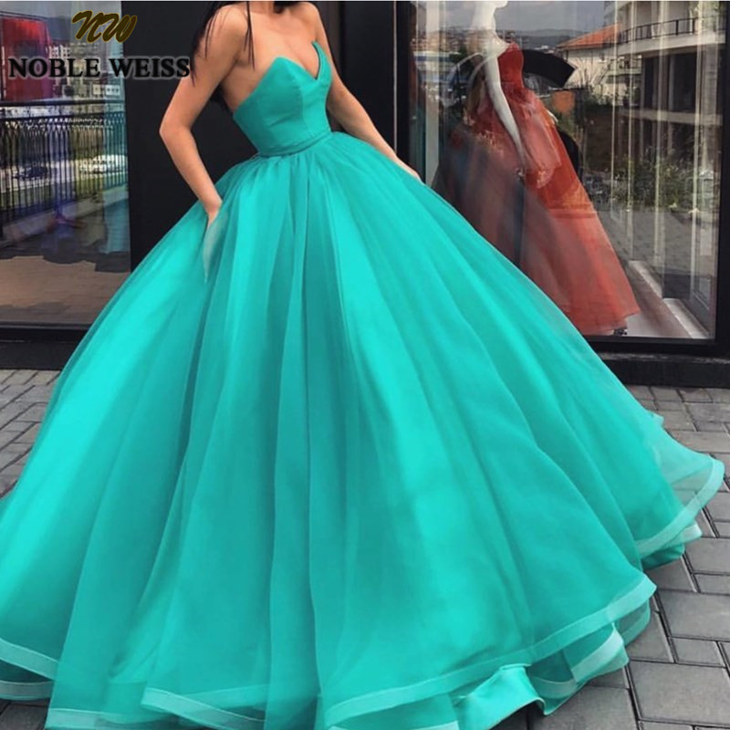 NOBLE WEISS chérie robe de bal Quinceanera robes 2019 volants Tulle robes de 15 anos pas cher grande taille doux 16 robes