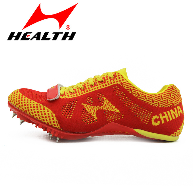 15c93887a48 Health track and field for men spike antidepilation spikes sprint running  shoes sports professional nail shoes plus size 35-45