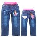 Nuevos Pantalones Vaqueros Otoño Engranajes Troll largo jeans pantalones Pantalones Niñas Pantalones Casuales Pantalones de ropa Para Niños de Lona Azul