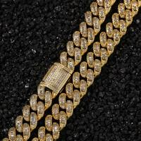 Moveon Hip Hop Square Zircon Inlaid Cuban Pendant Necklace Men's Necklaces Fashion Rap Street Dance Jewelry Accessorie Men Gifts
