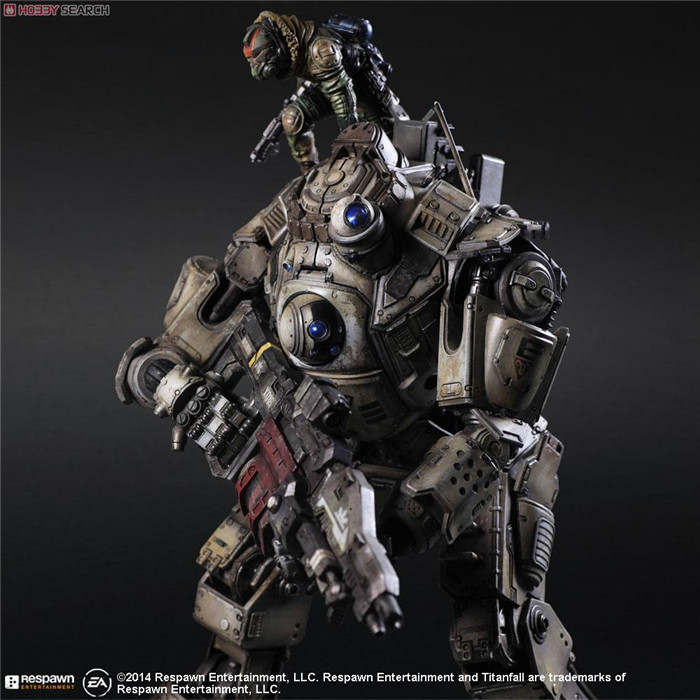 ФОТО Pack of PA 16pcs Game character Titanfall robot action pvc figure toy tall 26cm.in box via EMS.
