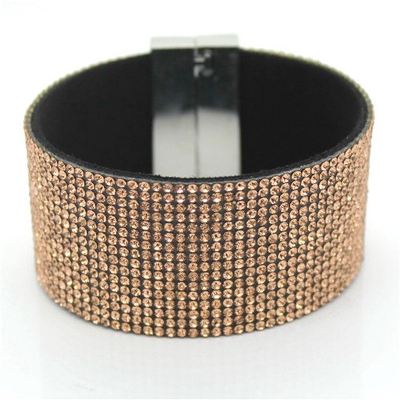 XQNI brändi klassikaline kristallnahast käevõru käevõru 19cm - Mood ehteid - Foto 3