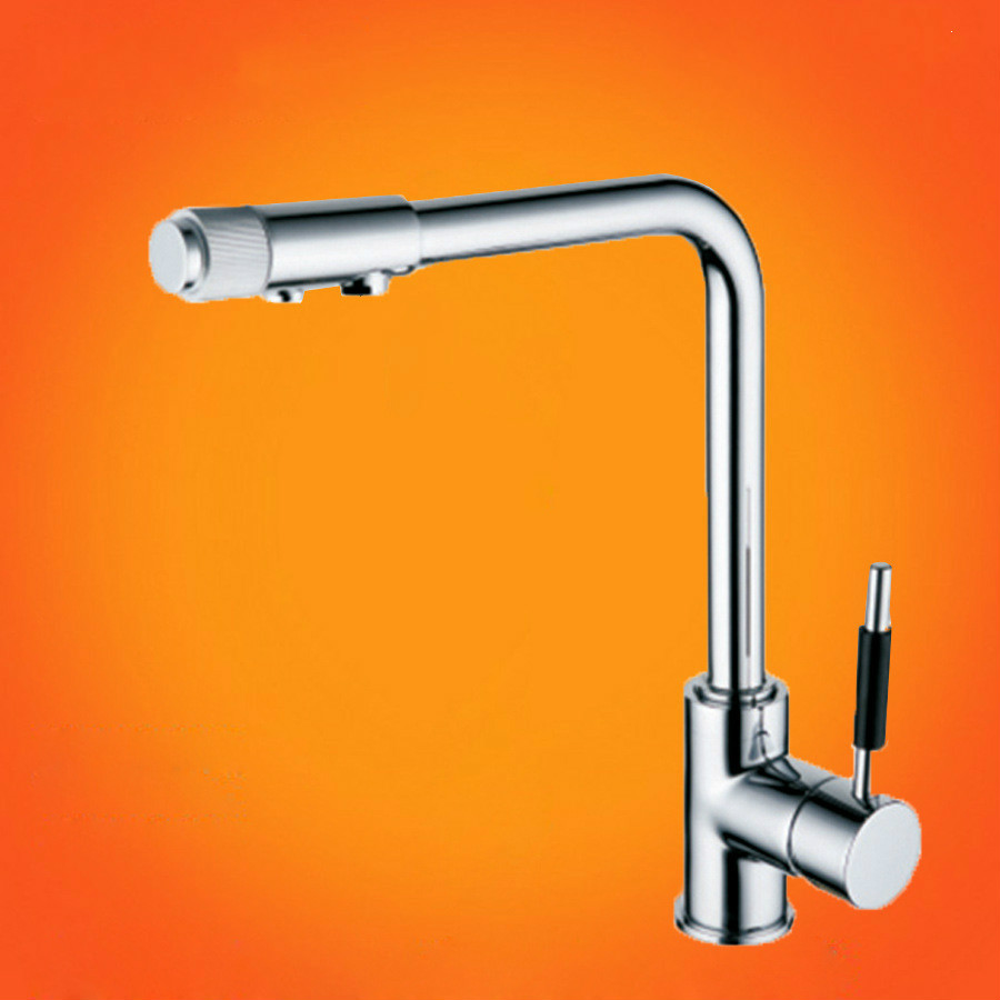 Kitchen Tap Torneira De Cozinha High-grade All Copper Pure Water Three Faucet With Hot And Cold Direct Drinking Healthy Kitchen frap new arrival silica gel nose any direction kitchen faucet cold and hot water mixer torneira cozinha crane f4453