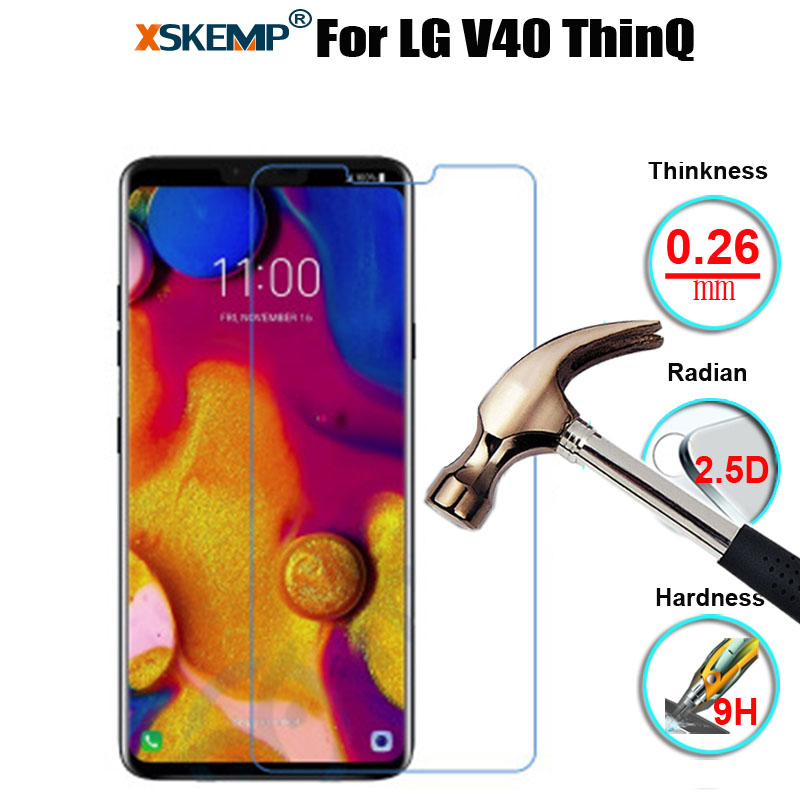 Real Tempered Glass Screen Protector Anti-explosion For LG V40 ThinQ X5 2018 Stylo 4 Q7 Plus Q Stylus G7 ThinQ Anti-Shatter Film