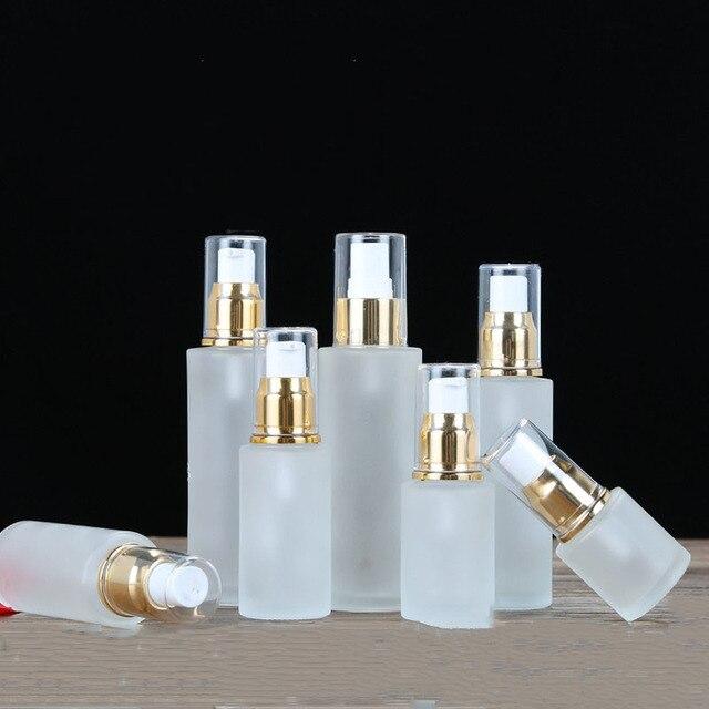20ml Beauty Spray Lotion Pump 30ml Glass Toner Bottles 40ml Cosmetic Containers Bottles 50ml 60ml Empty Emulsion Bottle 100ml