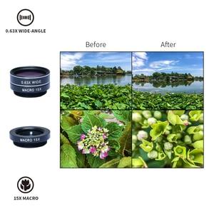 Image 3 - APEXEL 7 trong 1 Ống Kính Kit Cho Điện Thoại Cá mắt ống kính Góc Rộng Ống Kính macro CPL Kính Vạn Hoa Ống Kính zoom cho iPhone samsung xiaomi Điện Thoại